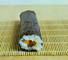 The maki sushi before cutting