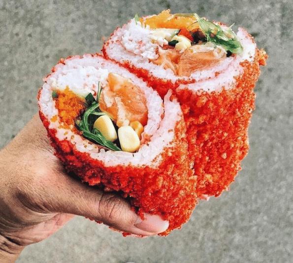 funny sushi burrito spicy  cheeto